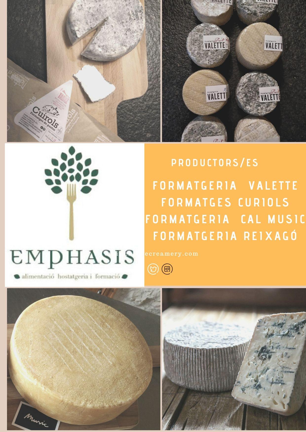 Maridatge de formatges i vins a Emphasis Casserres